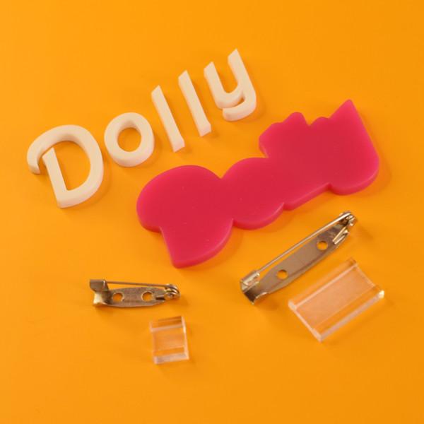Dolly custom word brooch kit