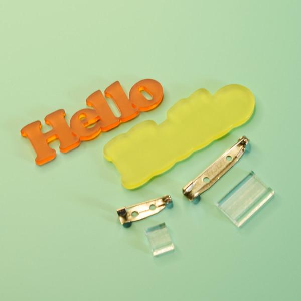 Retro font custom word brooch kit