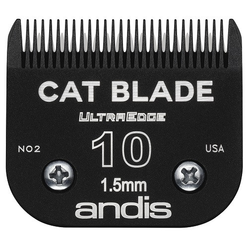 Andis - EGT UltraEdge Cat Blades, Charcoal Color, #10