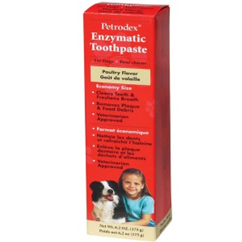 Petrodex - Enzymatic Toothpaste for Dogs, Poultry Flavor, 6.2 oz