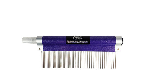 "Resco - Spritzer Fine/Course Combo Comb, 1.5"" pins, Sparkle Purple"