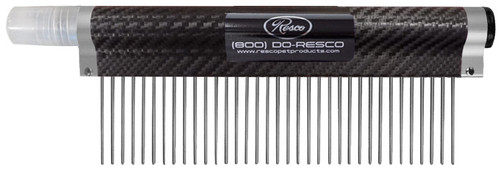 Resco - Spritzer Comb - Medium, 1.5 pins, Carbon Fiber Black