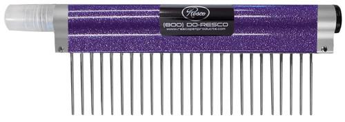 """Resco - Spritzer Comb - Course, 1.5"""" pins, Sparkle Purple"""