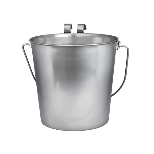 Stainless Steel Flat Back Pail