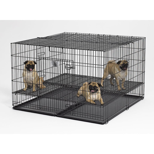 MidWest Deluxe Puppy Playpen with One-Inch Adjustable Floor Grid