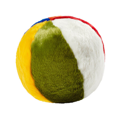 "Fluff and Tuff Beach Ball 7"" Dog Toy"