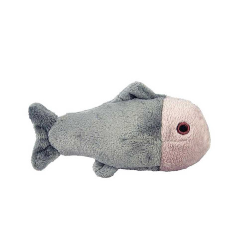 """Fluff and Tuff Guppy Fish 4.5"""" Squeakerless Dog Toy"""