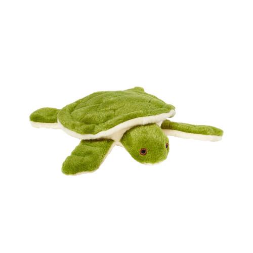 """Fluff and Tuff Esmeralda Turtle 7"""" Dog Toy"""