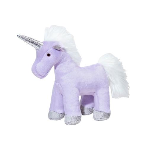 "Fluff and Tuff Violet Unicorn 9"" Dog Toy"