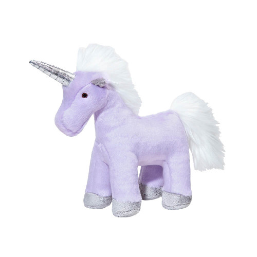"Fluff and Tuff Violet Unicorn 9"" Dog Toy"
