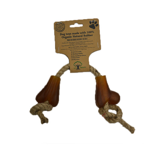 IndiPets Organic Bone with Jute Rope