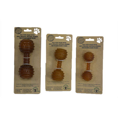 IndiPets Organic Studded Dumbbell