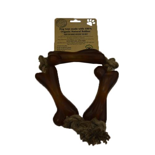 IndiPets Oranic Three Bones on a Jute Rope