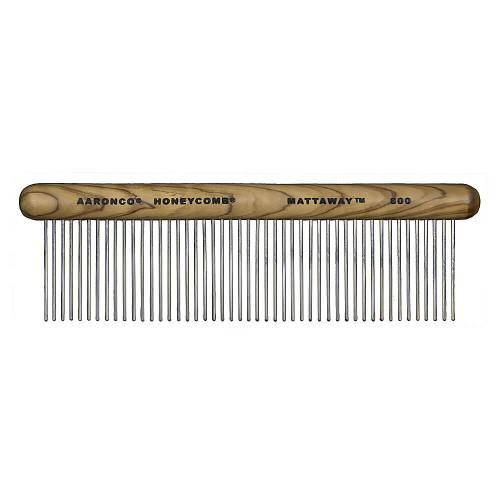 Aaronco Mattaway Wood Handle Comfort Coarse Comb #800