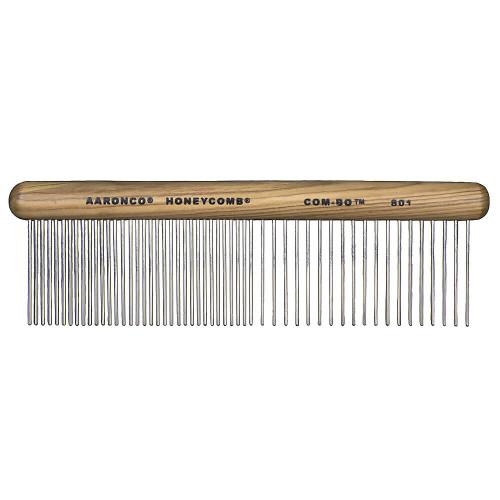 Aaronco 801 Com-bo Fine/Coarse Wood Handle Combination Comb