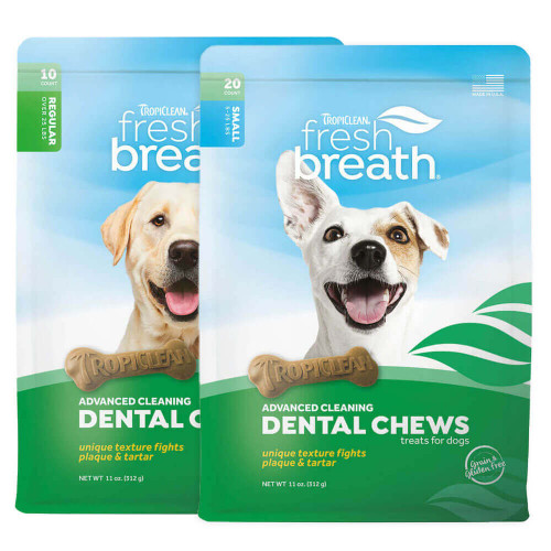 TropiClean Fresh Breath Advanced Cleaning Dental Chews