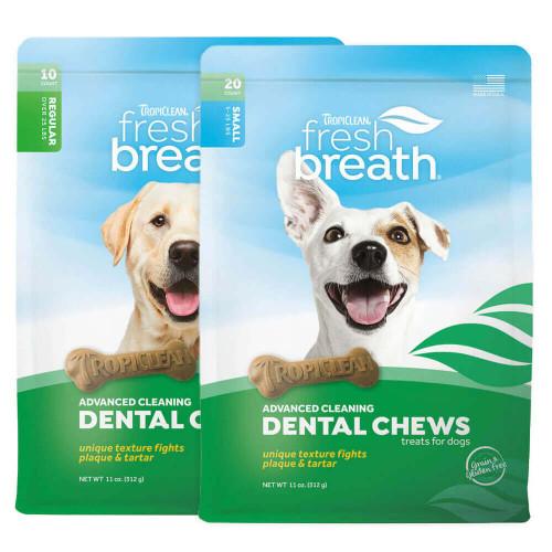 TropiClean Fresh Breath Advanced Cleaning Dental Chews