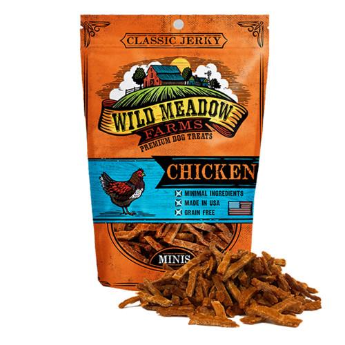Wild Meadow Farms Classic Chicken Minis Jerky Dog Treats - 4oz