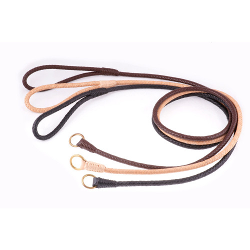 Alvalley Hand Braided Leather Slip Leads – 4ft
