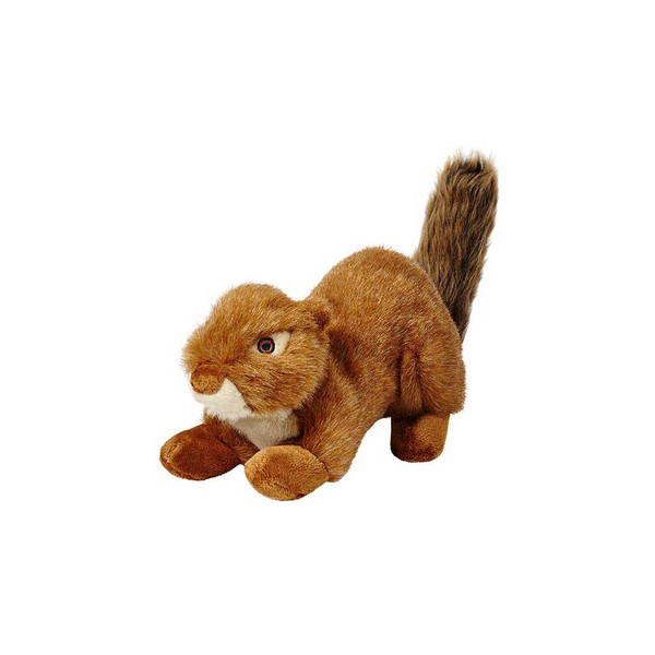 """Fluff and Tuff Red Squirrel 12"""" Squeakerless Dog Toy"""