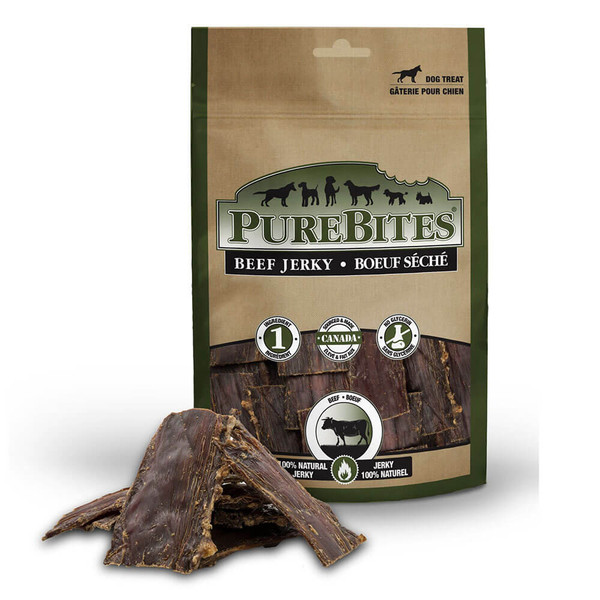 PureBites Air-Dried Beef Jerky Dog Treats