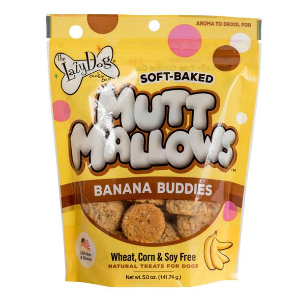The Lazy Dog Co. Mutt Mallows Banana Buddies Dog Treats - 5oz