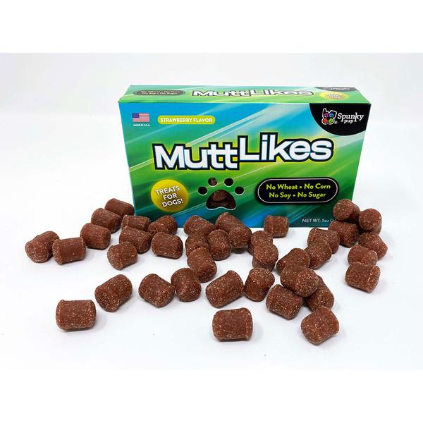 Spunky Pup Nostalgic Boxed MuttLikes Strawberry Dog Treats - 5oz