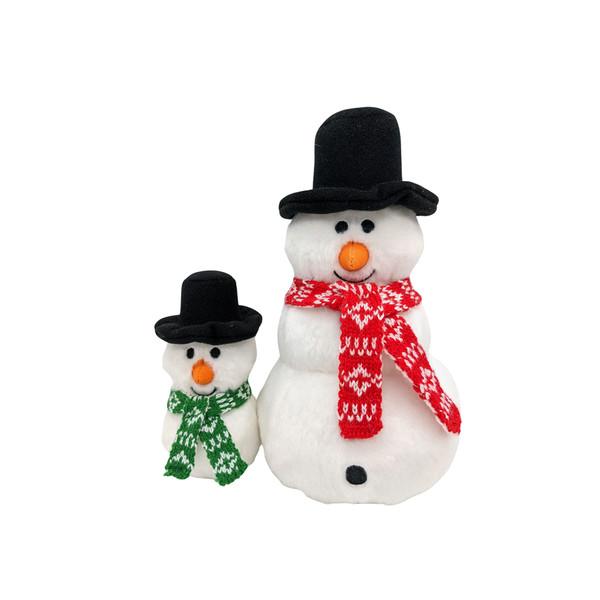 Fluff & Tuff Holiday Snowman Dog Toy