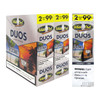 White Owl Cigarillos Duos Coconut and Rum Box and Foil Pack