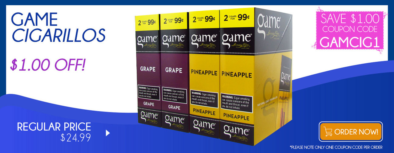 Game Cigarillos $1.00 OFF!