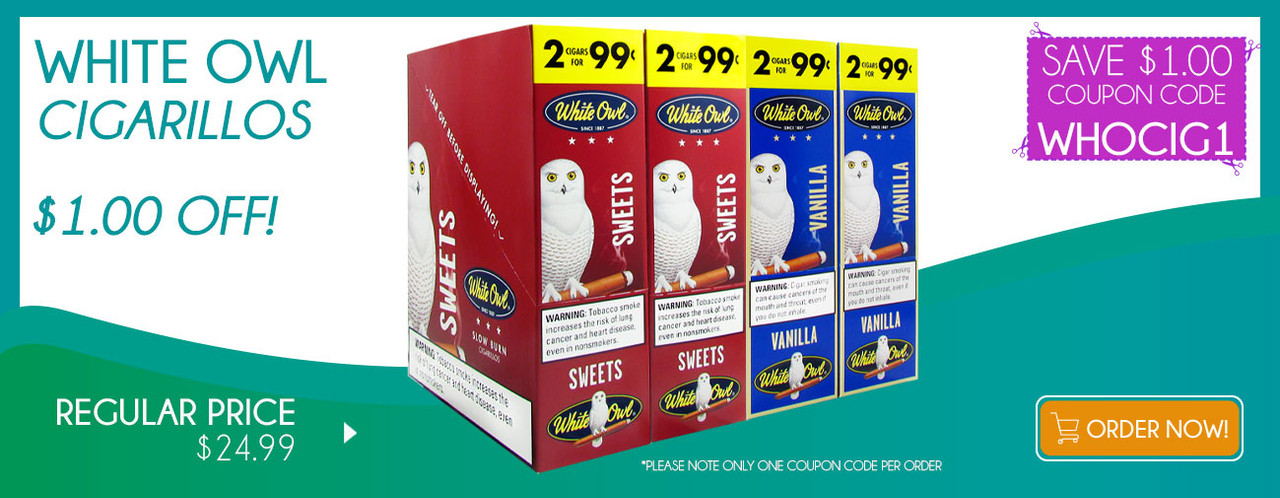White Owl Cigarillos $1.00 OFF!