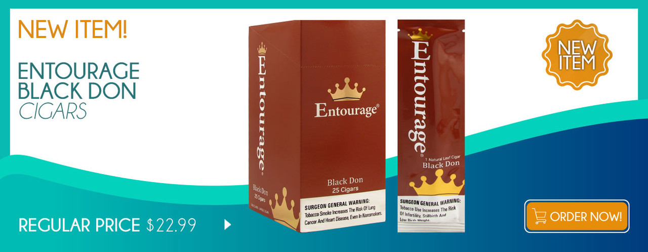 New Item! Entourage Black Don Cigars!