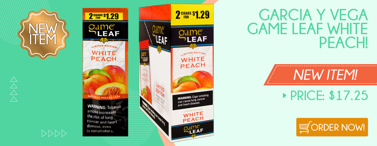 Garcia y Vega Game Leaf White Peach!
