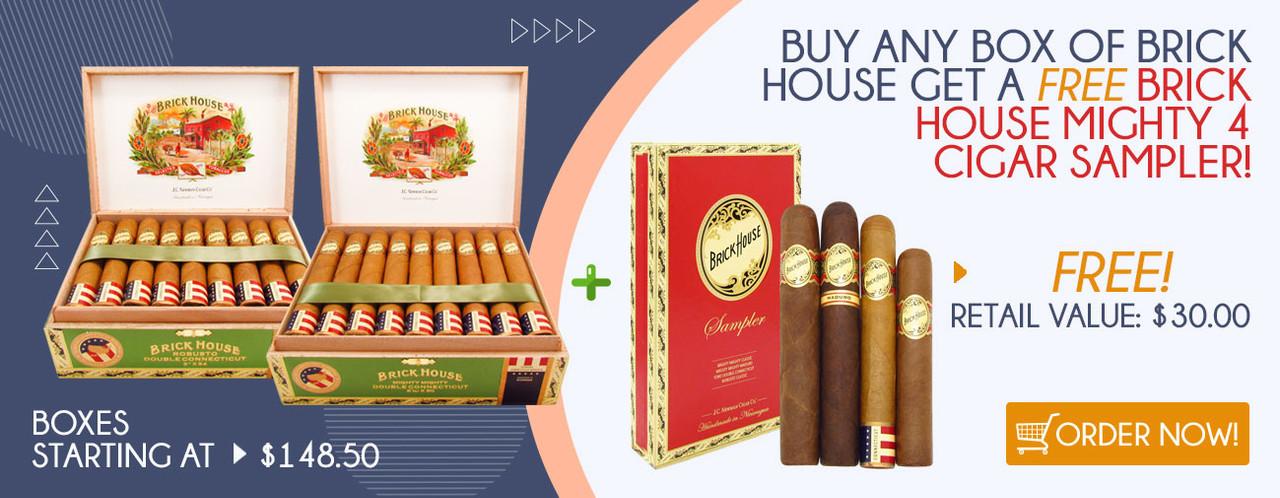 Buy any box of Brick House get a FREE Brick House Mighty 4 Cigar Sampler!