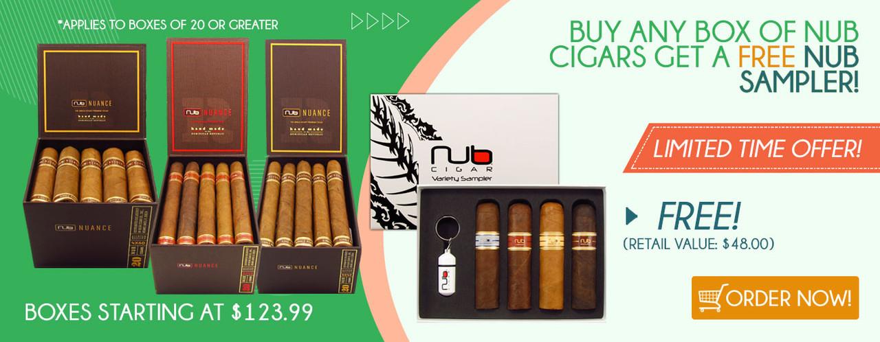 Buy any box of the NUB Cigars get a FREE NUB Sampler!