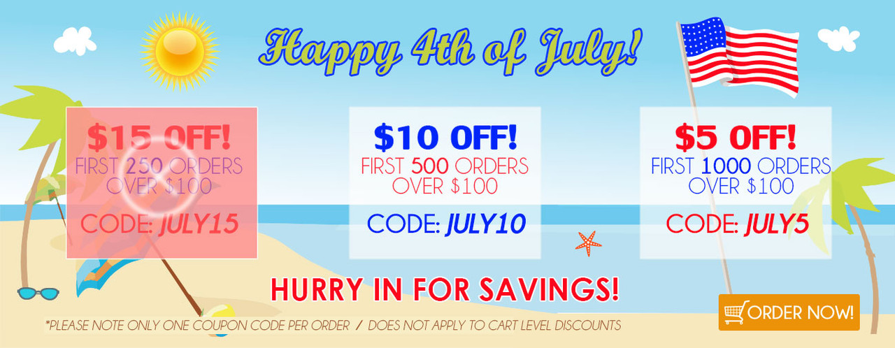 Happy 4th of July! Hurry in for Savings!