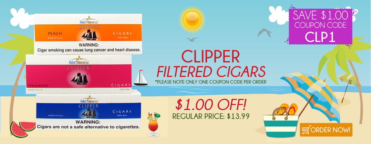Clipper Filtered Cigars $1.00 OFF!