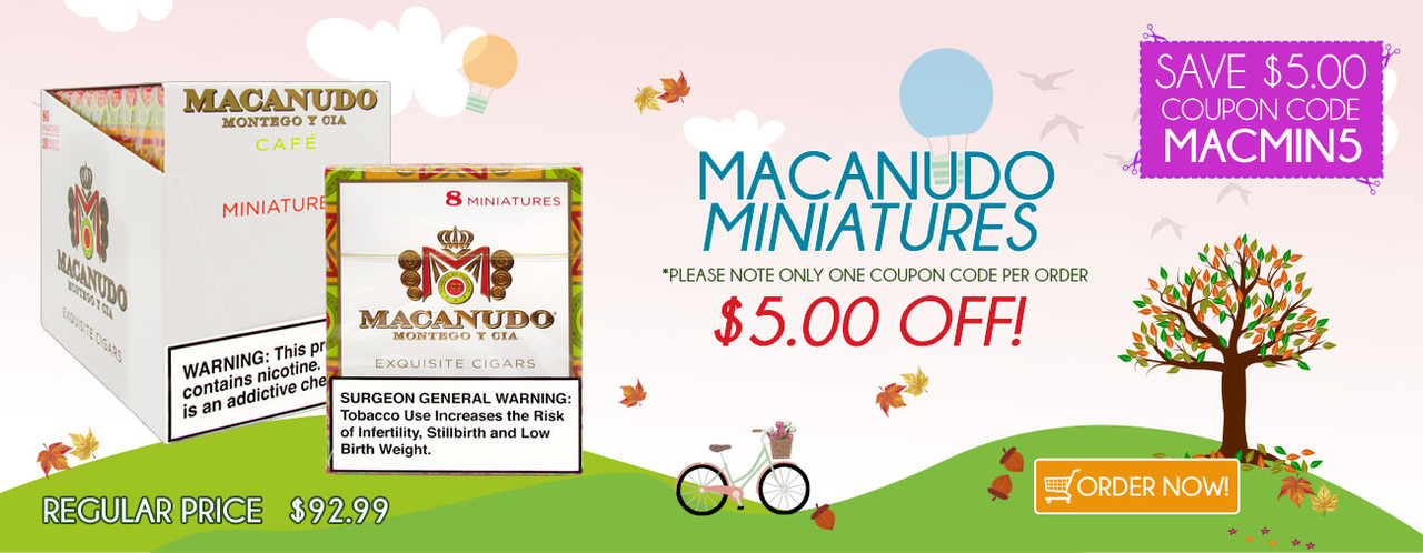 Macanudo Miniatures $5.00 OFF!