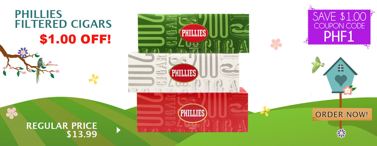 Phillies Filtered Cigars $1.00 OFF!