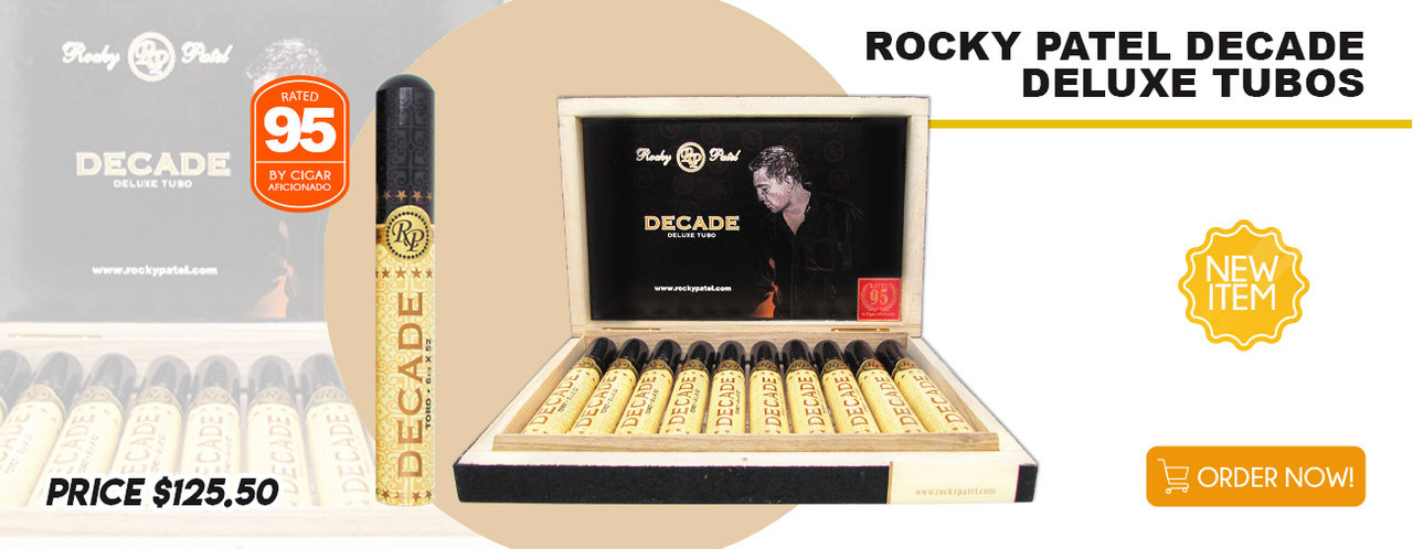 NEW ITEM! Rocky Patel Decade Deluxe Tubos