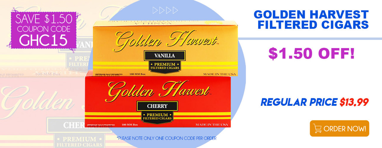 Golden Harvest Filtered Cigars $1.50 OFF!