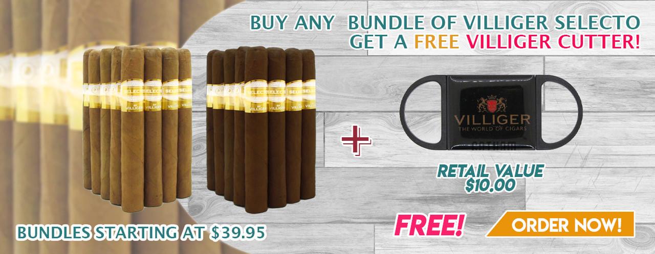 Buy any bundle of Villiger Selecto get a FREE Villiger Cutter!