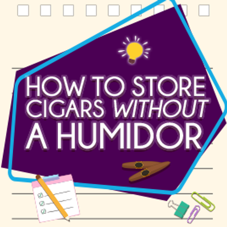 Learn how to Store Cigars Without a Humidor!
