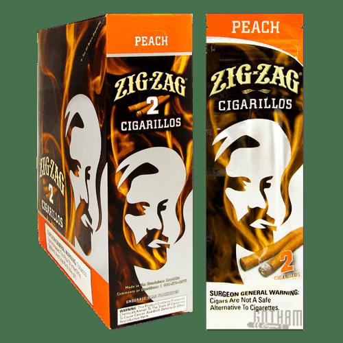Zig Zag Cigarillos Peach 2 Pouch