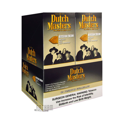 Dutch Masters Cigarillos Russian Cream Box