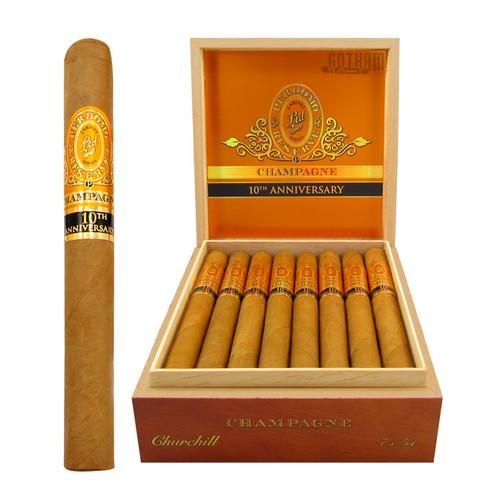 Perdomo Reserve Champagne 10th Anniversary Churchill Open Box and Stick
