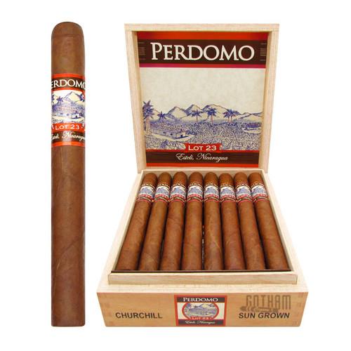 Perdomo Lot 23 Churchill Sun Grown Open Box and Stick