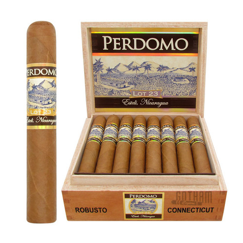 Perdomo Lot 23 Robusto Connecticut Open Box and Stick