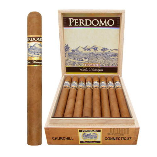 Perdomo Lot 23 Churchill Connecticut Open Box and Stick