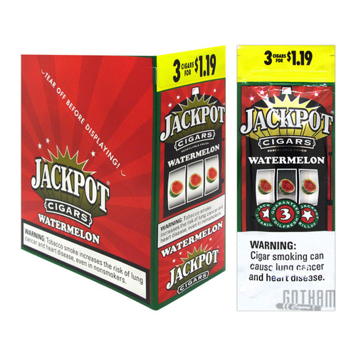Jackpot Cigarillos Watermelon 3 For $1.19 Box and Foil Pack